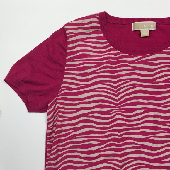 top fashion to buy outlet boutique MICHAEL Michael Kors Tops | Like New Michael Kors Pink Zebra Print ...